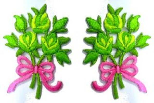1 Paar Applikationen Rosenstrauß RU05-24