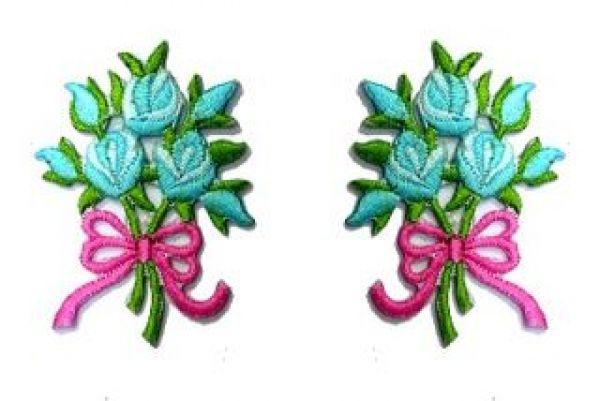 1 Paar Applikationen Rosenstrauß RU05-25
