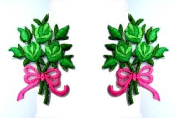1 Paar Applikationen Rosenstrauß RU05-26