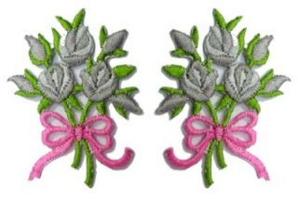 1 Paar Applikationen Rosenstrauß RU05-29