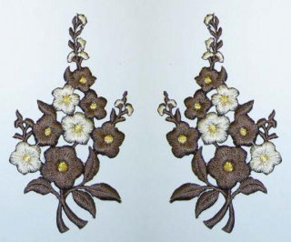 1 Paar Blumenapplikationen AA160-19
