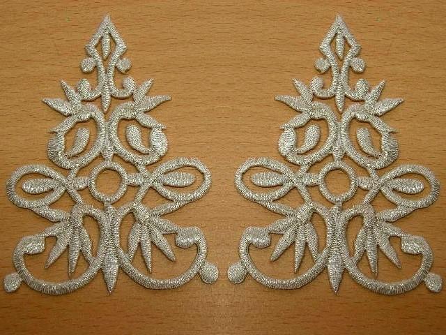 1 Paar Applikationen Höhere Qualität Farbe: Silber