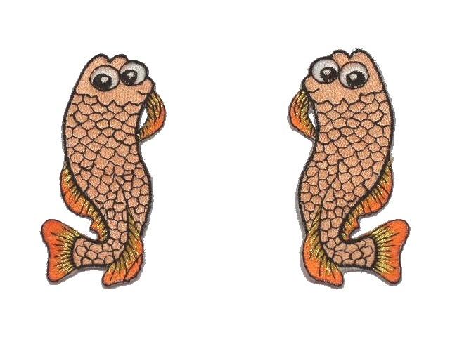 1 Paar Applikationen Fische AA457-1 Farbe: Lachs