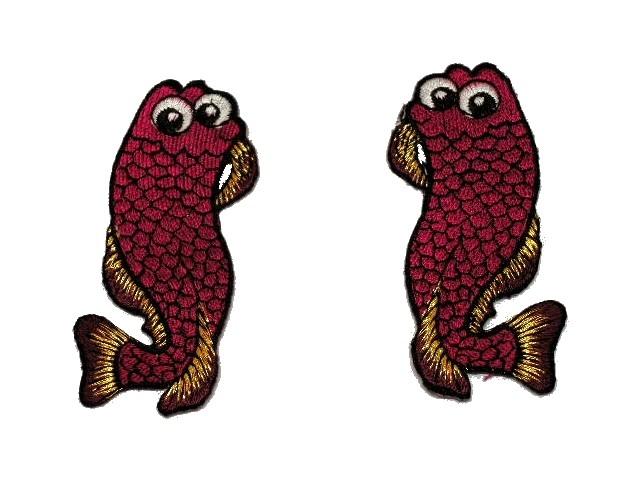 1 Paar Applikationen Fische AA457-4 Farbe: Bordeaux