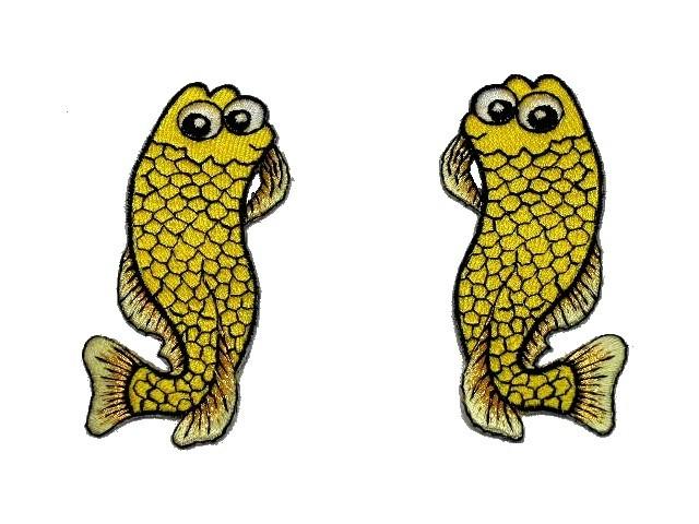 1 Paar Applikationen Fische AA457-24 Farbe: Gelb