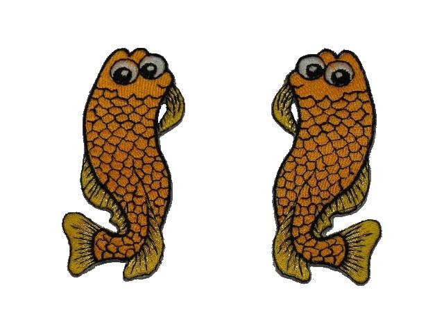 1 Paar Applikationen Fische AA457-25 Farbe: Orange hell