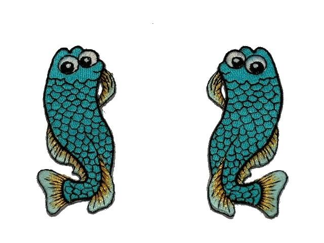 1 Paar Applikationen Fische AA457-14 Farbe: Filosa