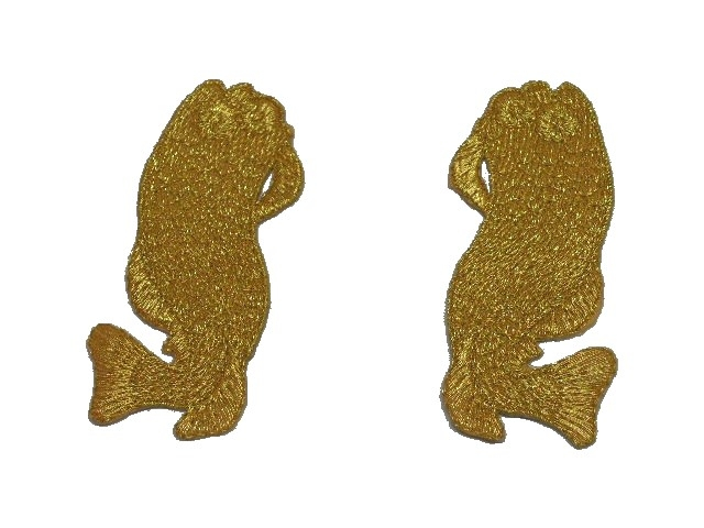 1 Paar Applikationen Fische AA457-30 Farbe: Gold