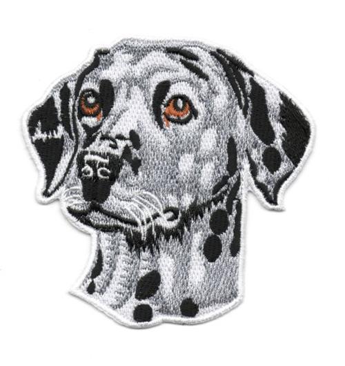 Applikation Hund Dalmatiner 8,5 x 8,5cm Farbe: Grau