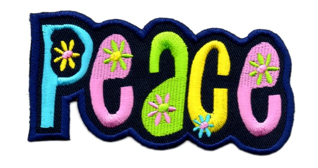 Applikation Sticker Patch Peace 10,5 x 5,3cm