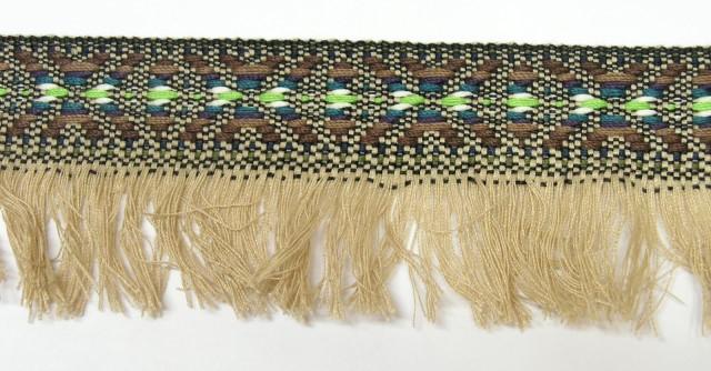 3m wunderschöne edle Fransenborte Indianer 40mm breit 3,55€/m