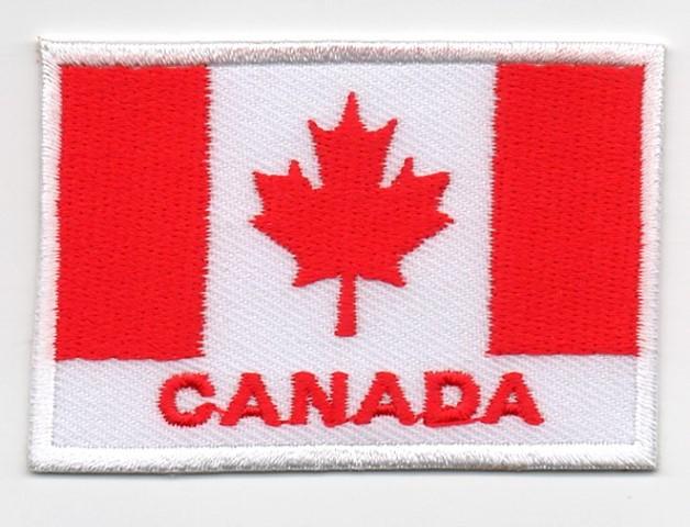 1 Aufnäher Sticker Patch Flagge Canada 6,9x4,7 cm