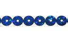 81m Paillettenband zum Aufbügeln 5mm breit Farbe: Royalblau