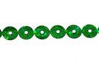 81m Paillettenband zum Aufbügeln 5mm breit Farbe: Grün-Laser