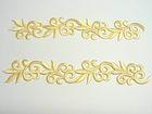 1 Paar hist. Streifen 20cm lang, 3,5cm breit Farbe: Creme