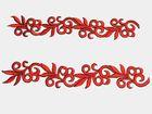 1 Paar hist. Streifen 20cm lang, 3,5cm breit Farbe: Rot