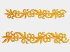 1 Paar hist. Streifen 20cm lang, 3,5cm breit Farbe: Orange