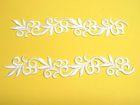 1 Paar hist. Streifen 20cm lang, 3,5cm breit Farbe: Weiss