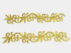1 Paar hist. Streifen 20cm x 3,5cm Farbe: Goldocker