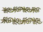 1 Paar hist. Streifen 20cm lang, 3,5cm breit Farbe: Olive