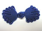 Posamentenverschlüsse mit Perlen AA300-26 Farbe: Blau