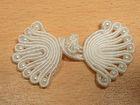 Posamentenverschlüsse mit Perlen AA300-18 Farbe: Weiss