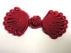 Posamentenverschlüsse mit Perlen AA300-22 Farbe: Rot