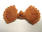 Posamentenverschlüsse mit Perlen AA300-30 Farbe: Hellbraun