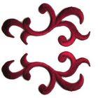 1 Paar Applikationen Patch Tribal Farbe: Rotviolett AA253-8