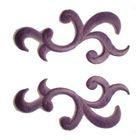 1 Paar Applikationen Patch Tribal Farbe: Violett
