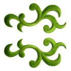 1 Paar Applikationen Patch Tribal Farbe: Laubgrün AA253-20