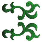 1 Paar Applikationen Patch Tribal Farbe: Grün AA253-22