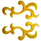 1 Paar Applikationen Patch Tribal Farbe: Gelb