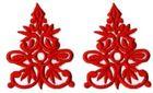 6 Paar historische Applikationen AF41-2 Farbe: Rot