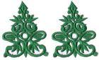 6 Paar historische Applikationen AF41-5 Farbe: Grün