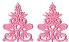 6 Paar historische Applikationen AF41-6 Farbe: Rosa