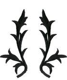 6 Paar historische Applikationen klein Farbe: Schwarz