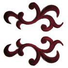1 Paar historische Applikationen Farbe: Bordeaux VOR92-8