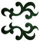 1 Paar historische Applikationen Farbe: Tannengrün VOR92-9
