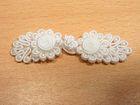25 Paar Posamentenverschlüsse mit Perlen Farbe: Weiss