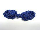 25 Paar Posamentenverschlüsse mit Perlen Farbe: Blau