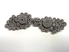 25 Paar Posamentenverschlüsse mit Perlen Farbe: Grau