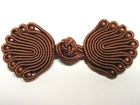 25 Paar Posamentenverschlüsse mit Perlen Farbe: Braun