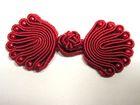 25 Paar Posamentenverschlüsse mit Perlen Farbe: Rot
