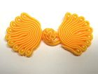 25 Paar Posamentenverschlüsse mit Perlen Farbe: Orange