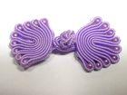 25 Paar Posamentenverschlüsse mit Perlen Farbe: Flieder