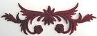 1 Applikation 10,5 x 2,9cm klein Farbe: Bordeaux VOR93-8