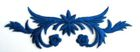 1 Applikation 10,5 x 2,9cm klein Farbe: Royalblau VOR93-10