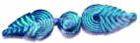 12 Paar Posamentenverschlüsse klein Farbe: Blau