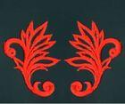 6 Paar historische Applikationen AF40-2 Farbe: Rot